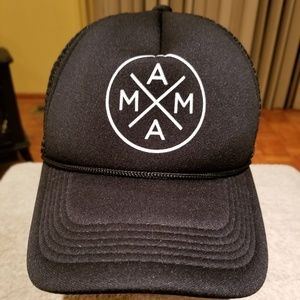 TINY TRUCKER CO. Accessories - MAMA TRUCKER BLACK MESH SNAPBACK HAT CAP 254ac74308e1